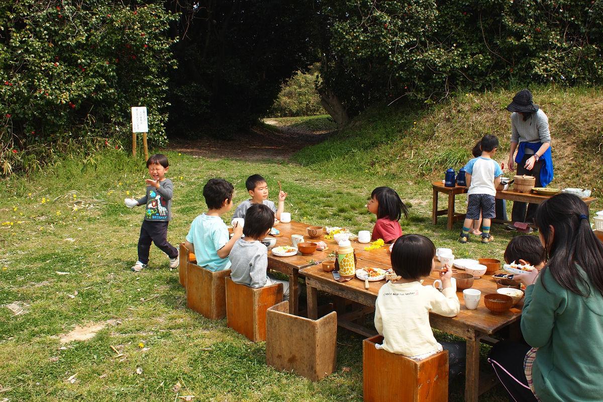 公園で昼食